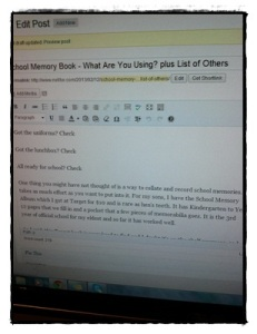 Post Writing