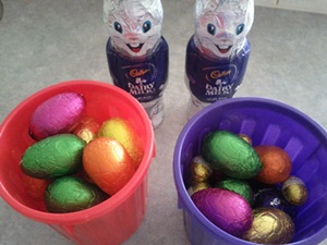 Easter Egg Haul from Easter Bunny