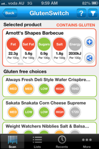 Gluten Free Switch App Alternative 1
