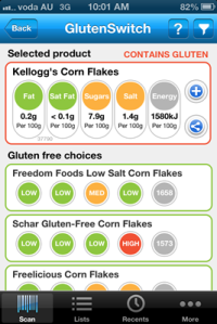 Gluten Free Switch App Alternative 2