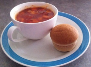Soup with Lifestlye Bakery Dinner Roll