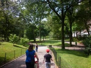 walking central park