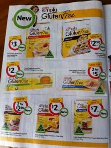 Coles Gluten Free Specials
